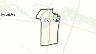 Mapa / Arcis-sur-Aube