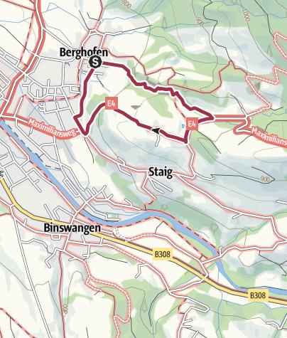 Carte / Von Berghofen durch das Burgstalltobel