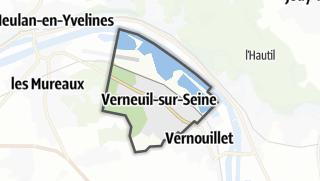 Mapa / Verneuil-sur-Seine
