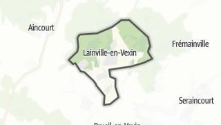 Mapa / Lainville-en-Vexin