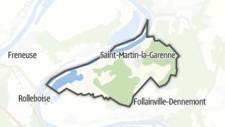 Mapa / Saint-Martin-la-Garenne