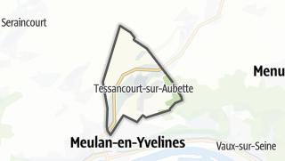 Mapa / Tessancourt-sur-Aubette