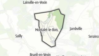 Mapa / Montalet-le-Bois