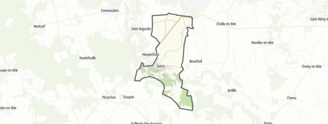 Map / Mountain biking trails in Saints