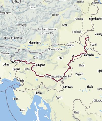 Map / European Long Distance hiking Trail E7 (Slovenia)