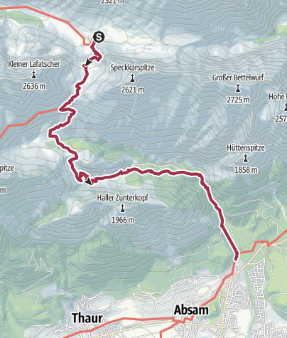 Map / Walk to Absams-Hall in Tyrol