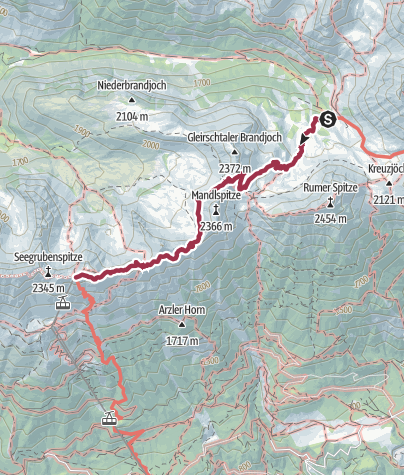 Carte / Walk the Goetheweg to the Nordketten Bahn