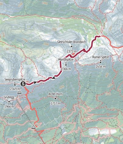 Map / Walk the Goetheweg to Pfeishütte