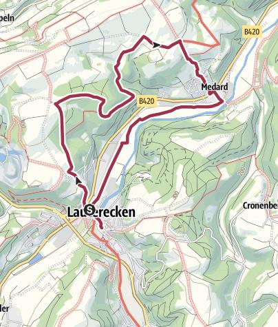 Karte / Wanderfit - Kleine Rundtour um Lauterecken