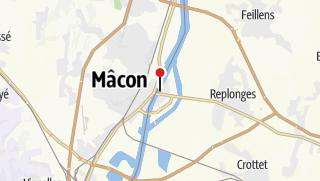 Carte / Le sud de la Bourgogne en 4 jours / 3 nuits