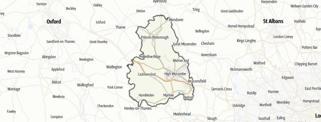 Карта / Велосипедные прогулки в Wycombe