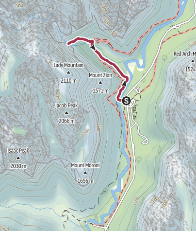 Map / Hike: Emerald Pool (short Zion option)