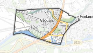 Mapa / Arbouans