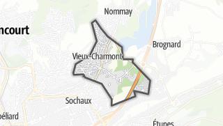 Térkép / Vieux-Charmont