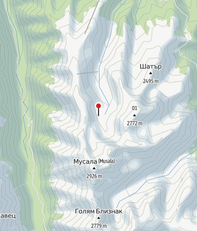 Karte / Musala Hütte