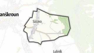 Hartă / Sázava