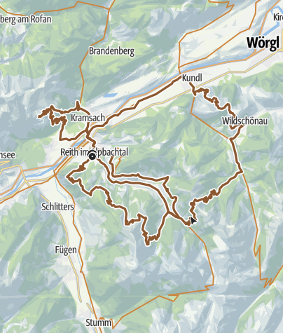 Karte / Sternfahrt Alpbachtal Seenland - Tag 1 - 3