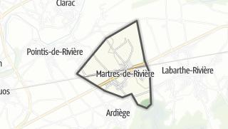 Térkép / Martres-de-Rivière