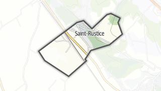 Térkép / Saint-Rustice