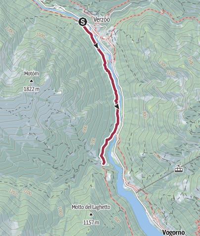 Karte / Von Lavertezzo nach Corippo
