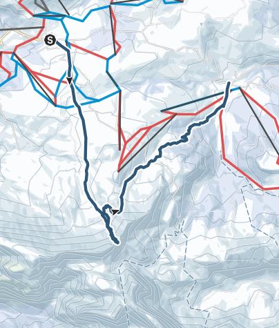 Karte / Von Compatsch zur Rosszähnscharte und nach Saltria