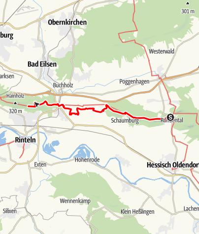 Karte / Weserbergland-Weg, 12. Etappe: Rohdental bis Rinteln