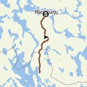 Kartta / Mäntyharju-Repovesi maastopyöräilyreitti