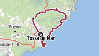 Mapa / Desde Tossa de Mar pasando por el Coll de Sastre