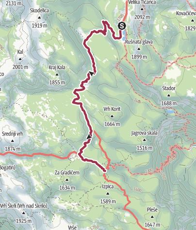 Map / Wanderung zur Komna Hütte