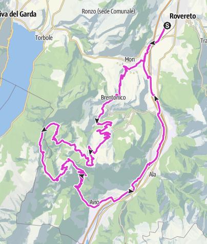 Cartina / Giro del Monte Baldo