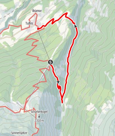 Karte / Rundwanderweg Voldertal