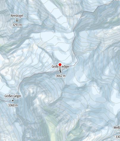 Karte / Besteigung Großvenediger - Hochtourenwochenende