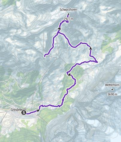 Karte / Trailsummit Schwarzhorn T2