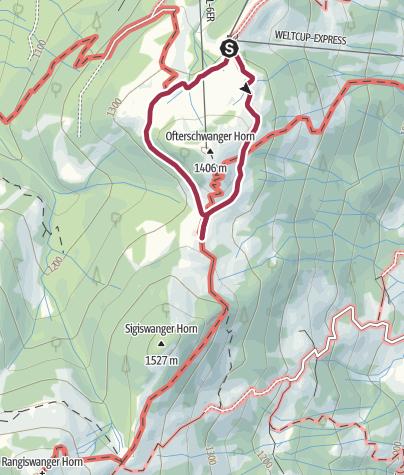 Karte / Entdecker-Tour rund um's Ofterschwanger Horn