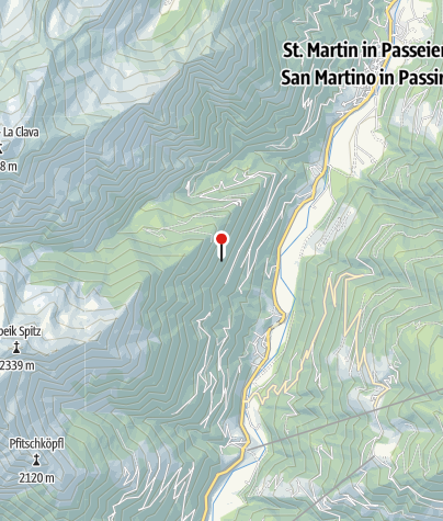 Karte / Wandern in Südtirol - Meraner Höhenweg