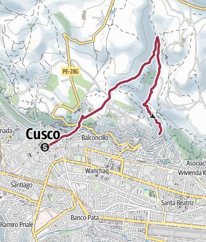 Map / Loop Walk to Sacsayhuaman