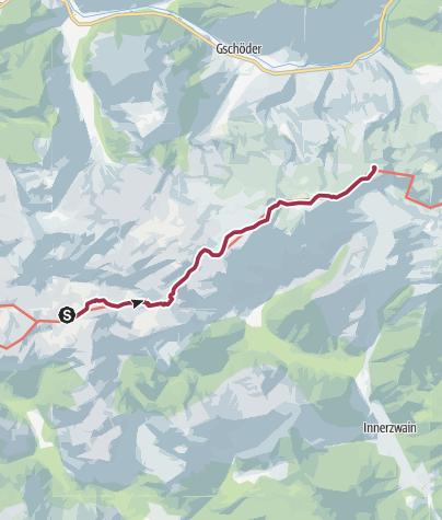 Karte / Übergang von der Sonnschienhütte zum Schiestlhaus