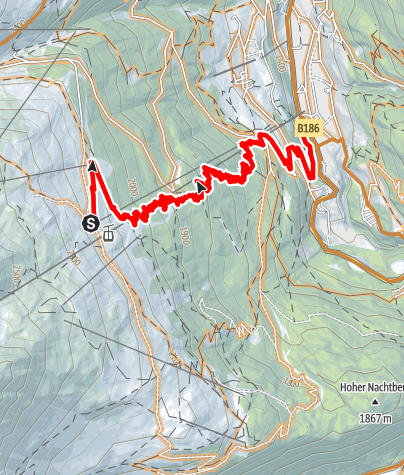 Map / Long Line Gaislachkogl