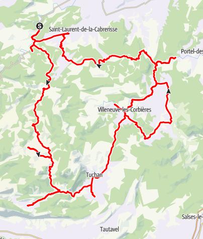Mapa / La route des châteaux cathares