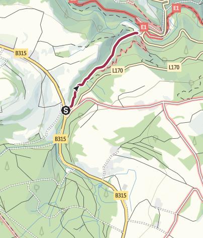 מפה / טיול לנקיק לוטנבאך-קלאם (Lotenbachklamm)