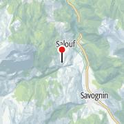 Karte / Schweiz - Wandern in Graubünden mit Komforthotel