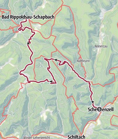 Karte / Der kleine Hansjakobweg, 2. Etappe