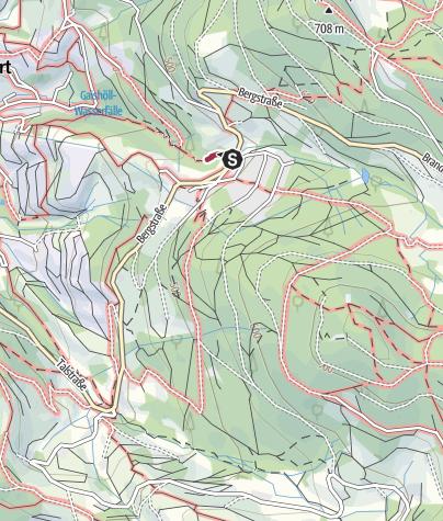 מפה / טיול למפלי גייסהול (Gaishöll-Wasserfälle)
