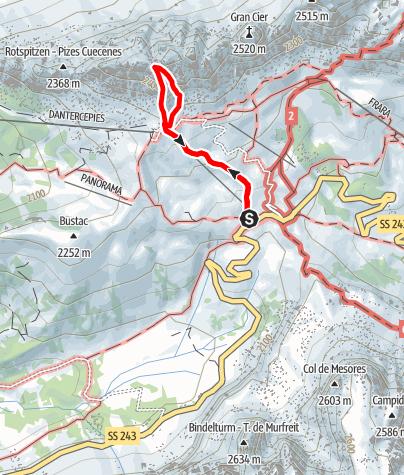 Map / Via Ferrata Small Cier