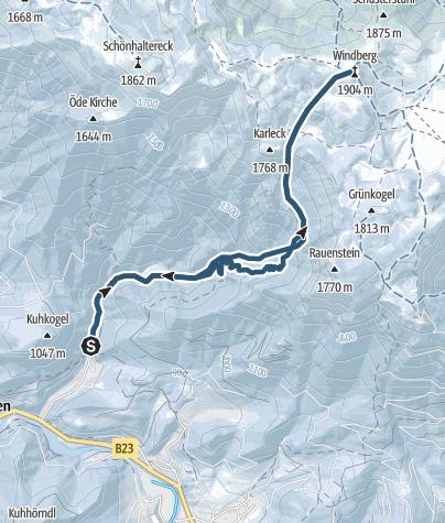 Karte / Karlgraben – Windberg