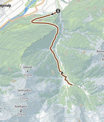 Karte / Zur Grießbachalm