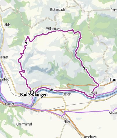 Map / Bad Säckingen: Durchs wildromantische Murgtal