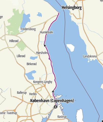 地图 / Copenhagen to Helsingør