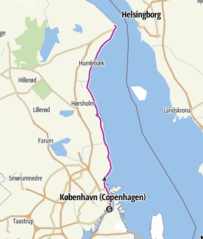 מפה / Copenhagen to Helsingør
