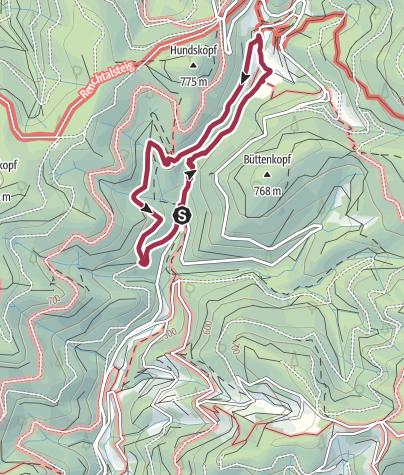 Karte / Oppenau: Sagenrundweg Allerheiligen Wasserfälle und Klosterruine